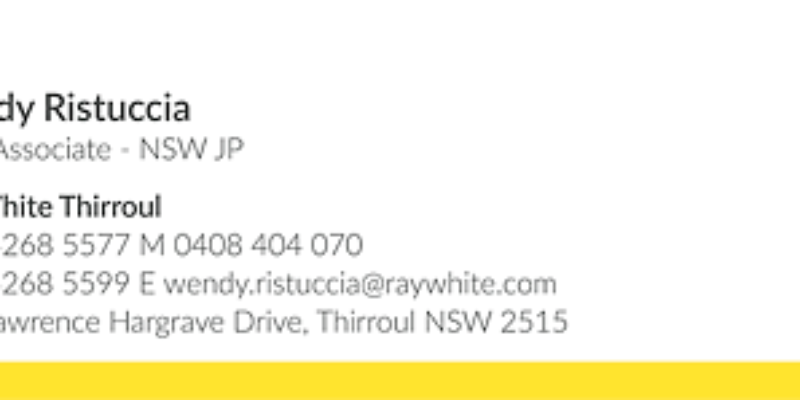 Wendy Ristuccia- Ray White Thirroul
